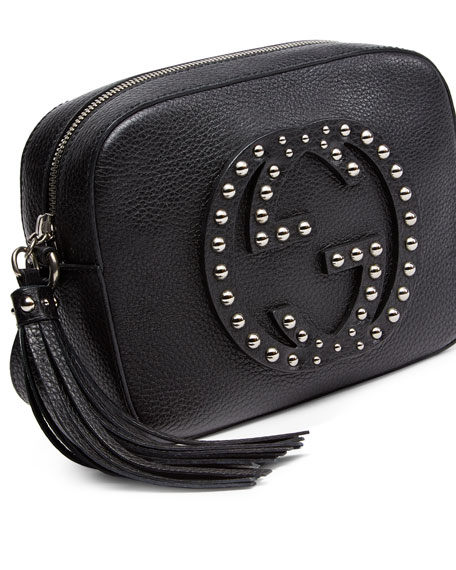 Gucci Soho Studded Leather Disco Bag, Black