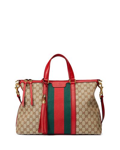 Raina Medium GG Canvas Top Handle Bag, Multi
