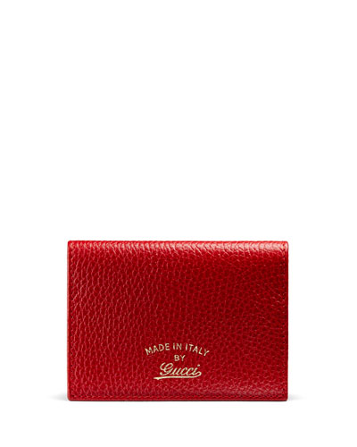 Swing Leather ID Case, Red
