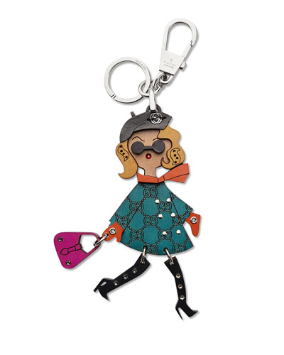 Blonde Lady Key Ring Charm