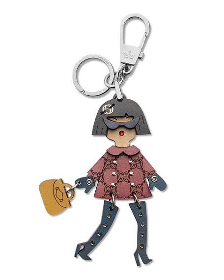 Gucci Brunette Lady Key Ring Charm