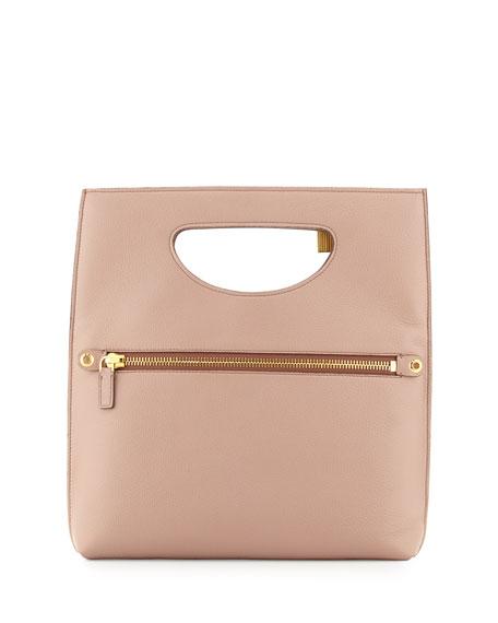 Alix Fold-Over Crossbody Bag, Blush Nude