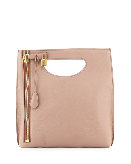 TOM FORD Alix Fold-Over Crossbody Bag, Blush Nude