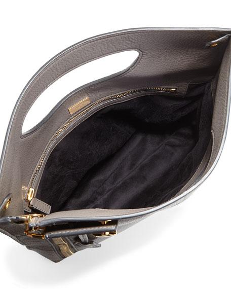 Alix Fold-Over Crossbody Bag, Dark Gray