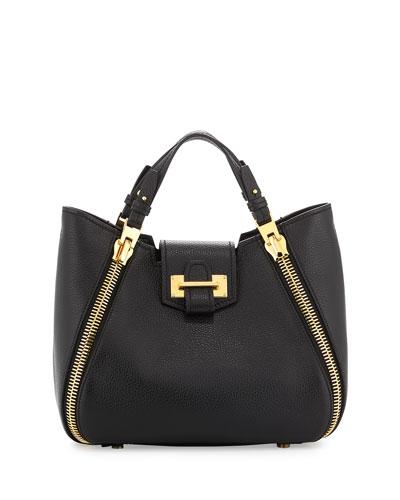Sedgwick Mini Zipper Tote Bag, Black