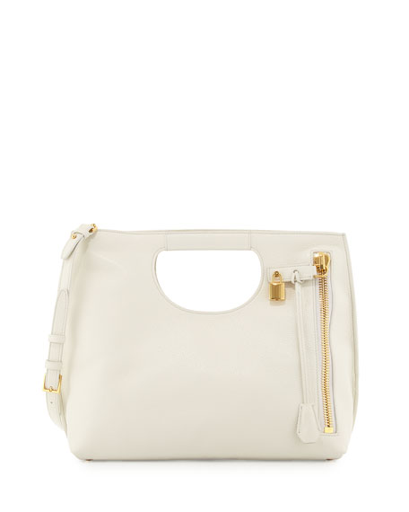 TOM FORD Alix Medium Shopper Tote Bag, White