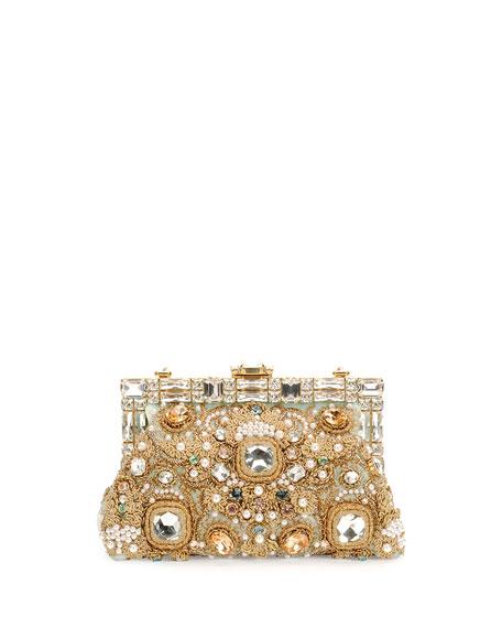 Borsa da Sera Raso Embellished Clutch Bag