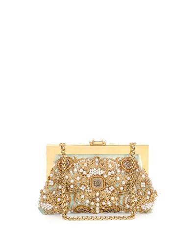 Borsa da Sera Raso Embellished Clutch Bag