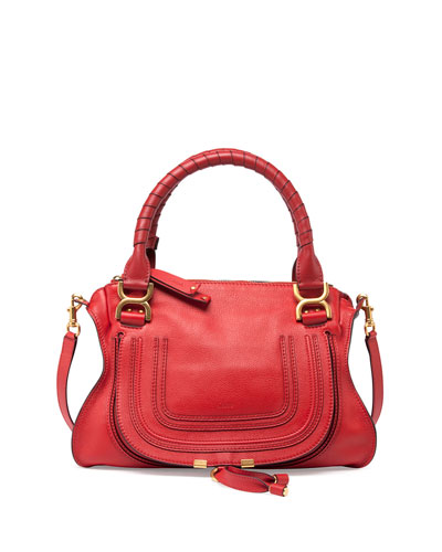 Marcie Medium Satchel Bag, Red