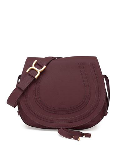 Marcie Medium Crossbody Satchel Bag, Bordeaux
