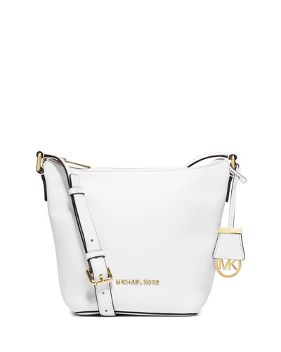 Bedford Small Messenger Bag, Optic White