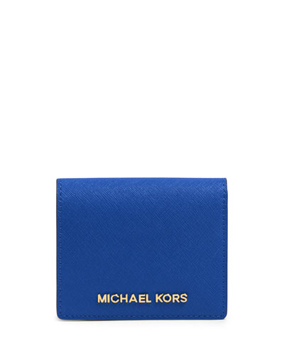 Jet Set Travel Flap Card Case, Electric Blue