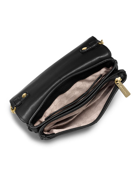Bedford Double-Gusset Crossbody Bag, Black