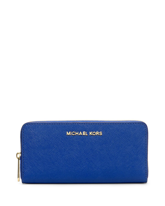 d17bcb7bc003d3 MICHAEL Michael Kors Jet Set Saffiano Continental Saffiano Wallet, Electric  Blue