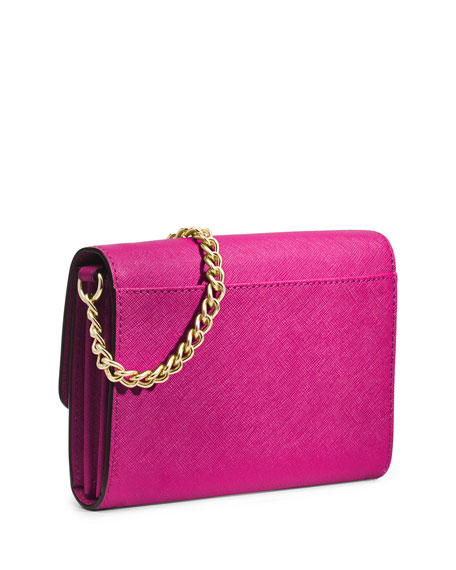 Jet Set Travel Large Crossbody Bag, Raspberry