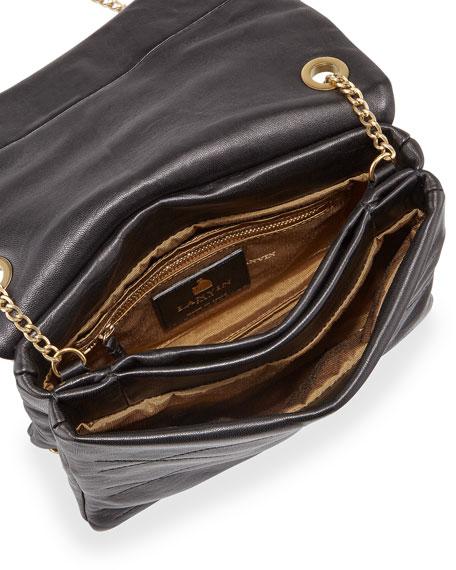 Sugar Mini Lambskin Shoulder Bag, Black
