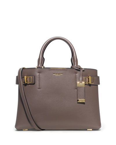 Bette Medium Satchel Bag, Elephant