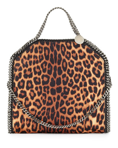 Falabella Small Leopard-Print Tote Bag, Taupe
