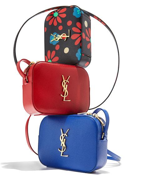 Saint Laurent Monogramme Camera Crossbody Bag, Lipstick Red