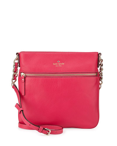 cobble hill ellen crossbody bag, deep pink