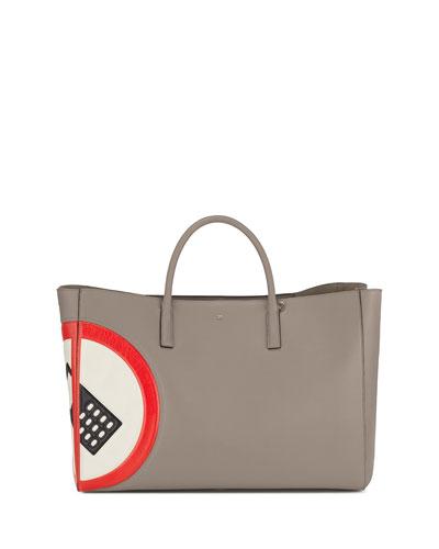 Ebury Maxi No Mobile Tote Bag, Light Gray