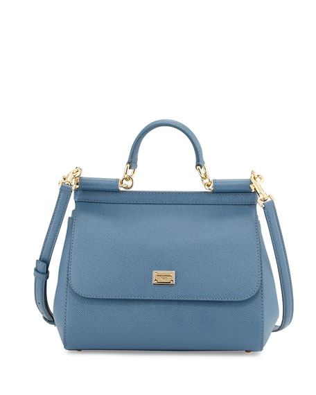 Miss Sicily Satchel Bag, Denim Blue