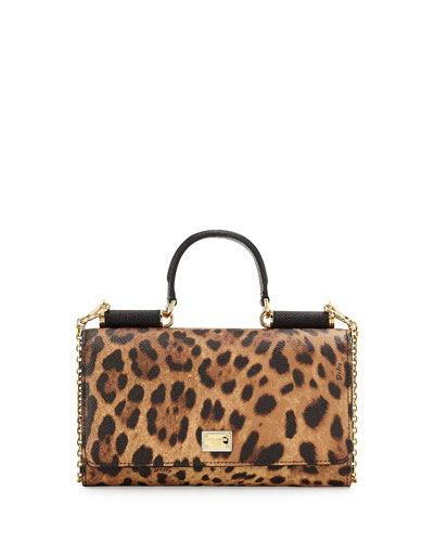 Miss Sicily Lipstick Mini Crossbody/Wallet, Leopard