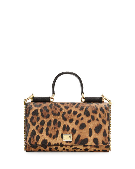 Miss Sicily Lipstick Mini Crossbody Wallet Leopard