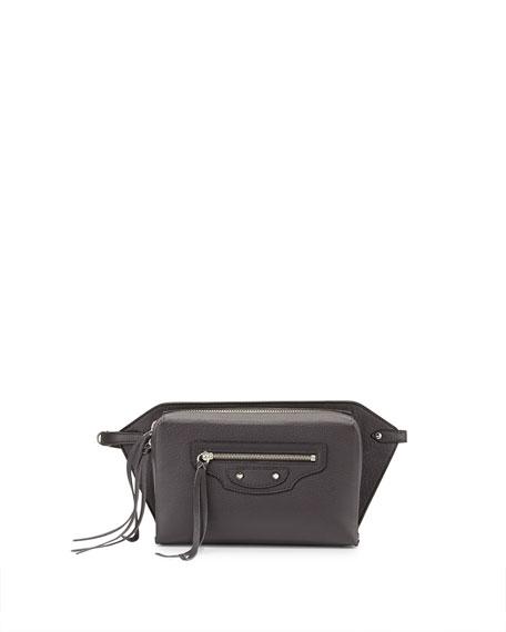 Balenciaga Papier Zip-Around Belt Bag, Gray