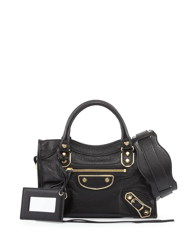 eef1c02e9370 Balenciaga Metallic Edge City Mini Bag