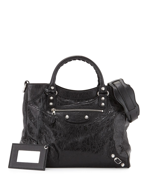 7f0471fd7e9 Balenciaga Giant 12 Velo AJ Bag, Black | Neiman Marcus