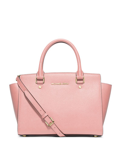 Selma Medium Top-Zip Satchel Bag, Blossom