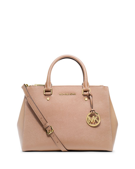 Sutton Medium Satchel Bag, Blush