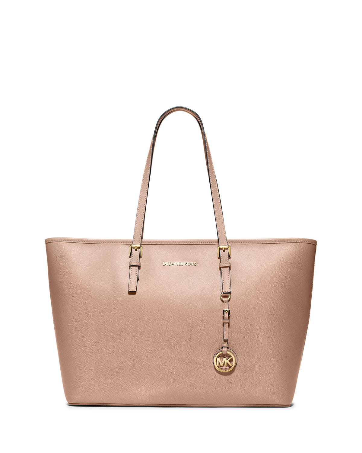 049c6dc10059 MICHAEL Michael Kors Jet Set Travel Medium Saffiano Tote Bag, Blush ...