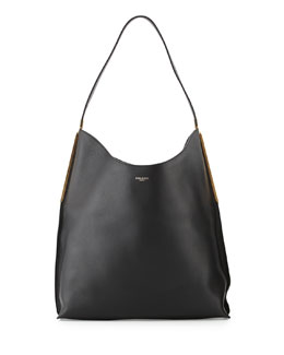 Alphee Medium Hobo Bag, Black