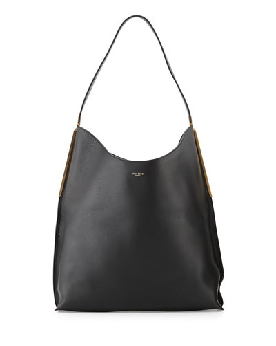 Alphee Medium Hobo Bag, Black