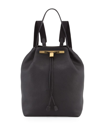 Backpack 11 Leather Hobo Bag, Black