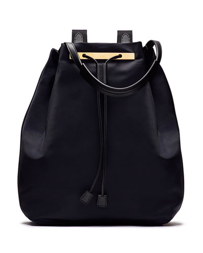Backpack 11 Nylon Hobo Bag, Navy