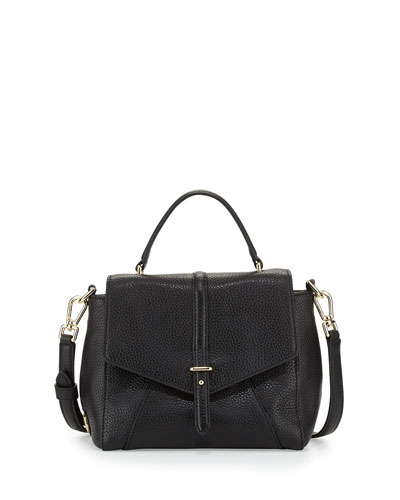 797 Mini Leather Satchel Bag, Black