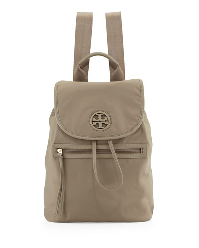 Slouchy Nylon Backpack, Porcini