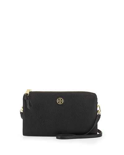 Robinson Pebbled Wallet Crossbody Bag, Black