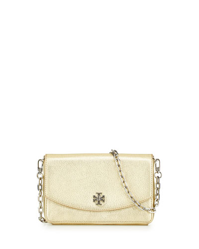 Mercer Metallic Crossbody Bag, Light Gold