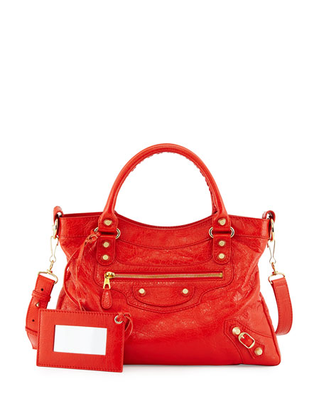 Balenciaga Giant 12 Golden Town Tote Bag, Red