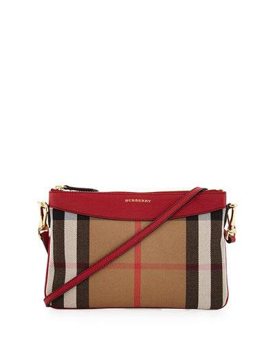 Peyton House Check Crossbody Bag, Tan