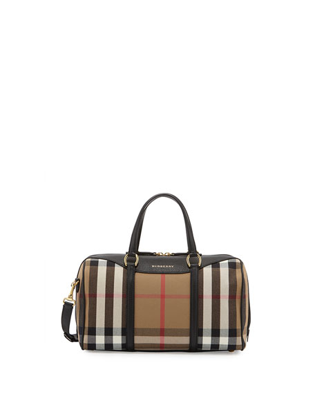 Burberry Alchester House Check Medium Derby Satchel Bag,