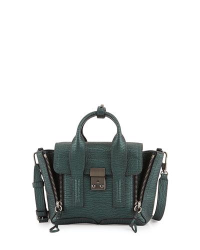 Pashli Mini Satchel Bag, Ivy