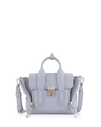 Pashli Mini Leather Satchel Bag, Lilac