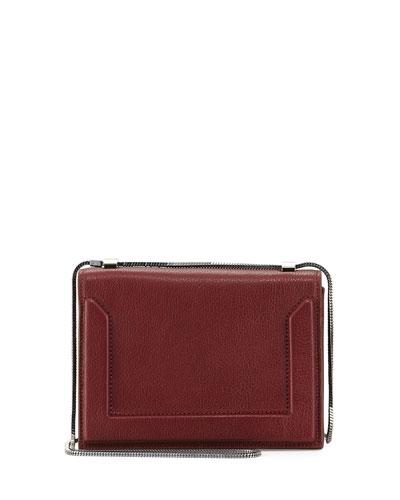 Soleil Mini Chain Shoulder Bag, Burgundy