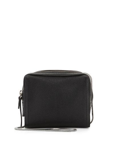 Soleil Mini Zip Crossbody Bag, Black