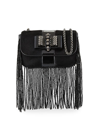 Sweet Charity Fringe Mini Crossbody Bag, Black